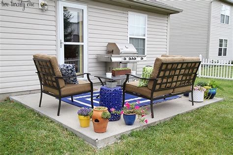 Slab Patio Makeover by Patio Makeover