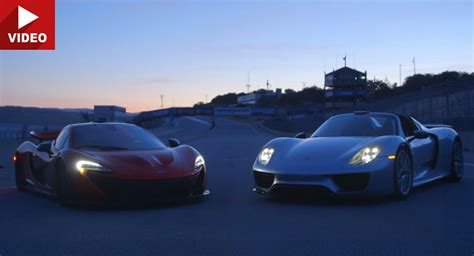 fastest porsche 918 mclaren p1 meets porsche 918 in laguna seca which is