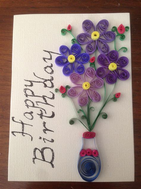 Greeting Card Designs Handmade Paper - paper quilling birthday card handmade card greeting