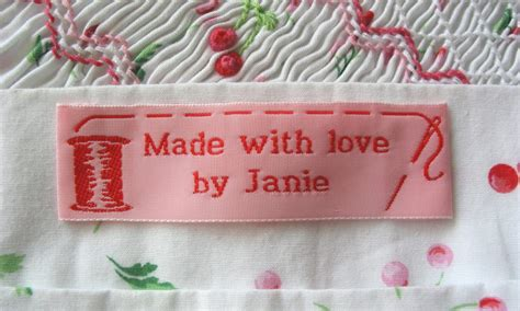 Handmade Labels For Handmade Items - custom clothing labels personalized woven sew on labels