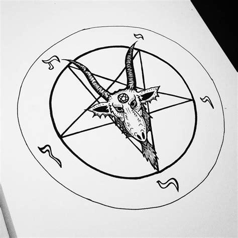 doodle pentagram baphomet drawing baphomet pentagram drawing