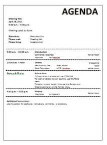 agenda template meeting agenda template word documents