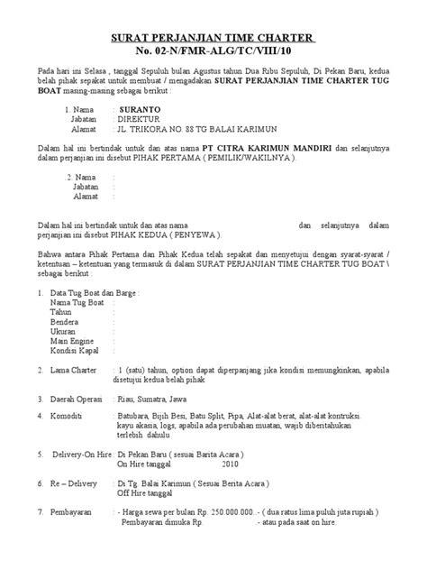 syarat membuat novel fantasteen surat perjanjian time charter draf 2
