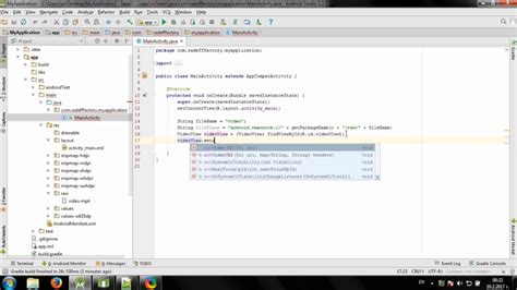 android studio tutorial offline develop simple offline video player in android studio