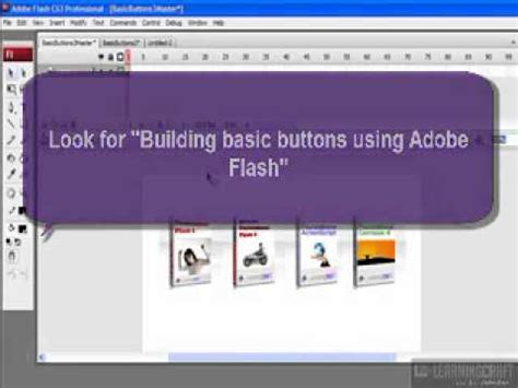 adobe flash tutorial basic animation for beginners creating roll over button effects using adobe flash