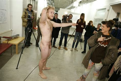 Naked Art Student Finally Released From His Box Iceland Monitor