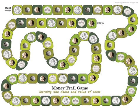 Printable Board Game Money | relentlessly fun deceptively educational money trail