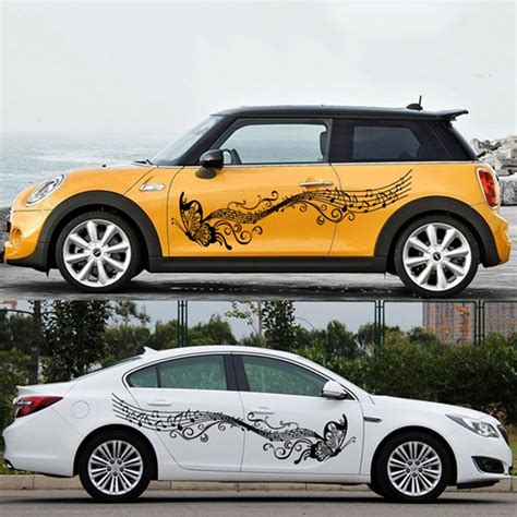 Auto Decals And Stickers by 1 Pair Car Stickers And Decals Flower Butterfly Universal