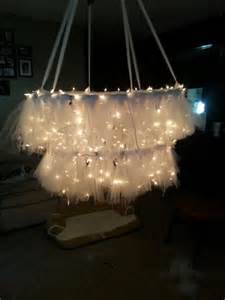 diy wedding chandelier hula hoop chandelier with tulle my is getting