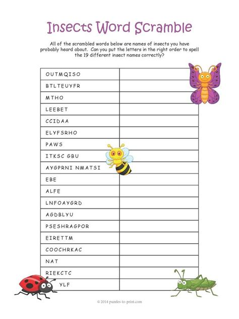 printable animal word scramble 17 best images about animal puzzles on pinterest early