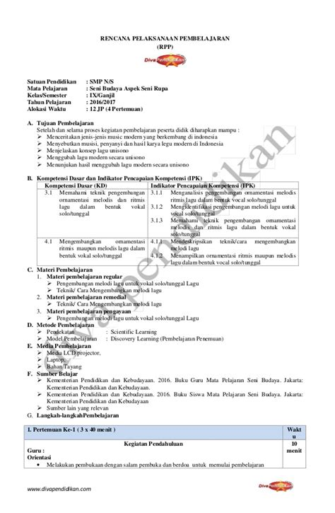 Cd Rpp Ppkn Kelas Viii Kurikulum 2013 Revisi 2017 rencana pelaksanaan pembelajaran rpp ppkn smp kelas vii newhairstylesformen2014