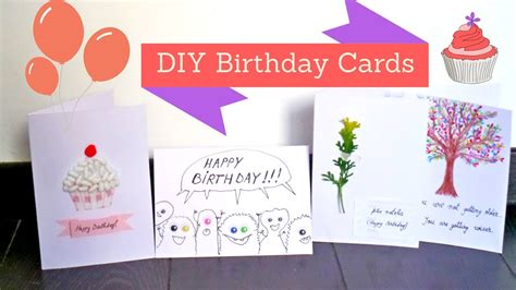easy and creative birthday card ideas diy handmade