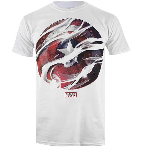 Kaosbajut Shirt Civil War marvel s captain america civil war smoke sheild t shirt white merchandise zavvi