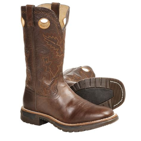 cowboy work boots for rocky original ride 13 quot cowboy work boots square toe