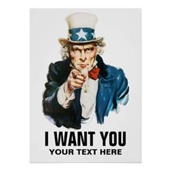 I Want You Template by Sam I Want You Vintage Poster Zazzle