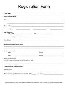 child care registration form template best 25 registration form ideas on form