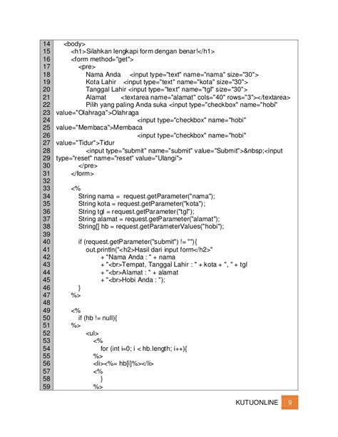 membuat form login jsp java web form pendaftaran jsp