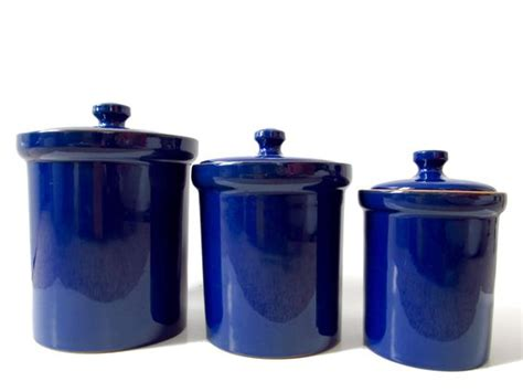 italian canisters kitchen ceramics cobalt blue and canister sets on