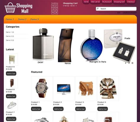 templates for website for online shopping beautiful shopping mall website template images exle