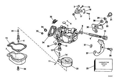 buitenboordmotor stationair afstellen evinrude carburetor parts for 1980 4hp e4rlcss outboard motor