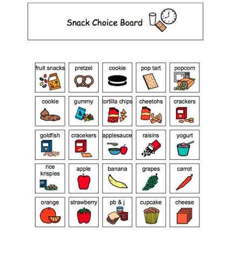 give me the cup knowing in autism books snack choice board autism to be the