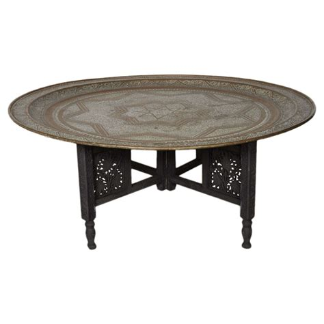 moroccan brass tray coffee table at 1stdibs