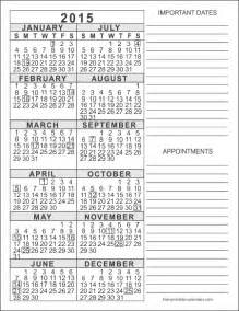 free 2015 yearly calendar template 2015 free printable calendars free printable calendars