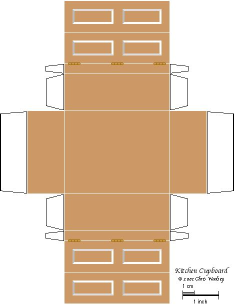 templates for kitchen cabinets pin by kayla fox on 3d paper doll furniture toys