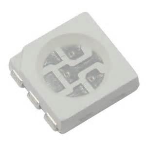 Chip Smd Led 5050 Green 520 530nm Hijau 5000 9000mcd 30 34v 10x rgb smd leds 5050 3 chip plcc6 fullcolor