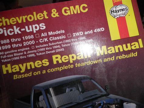 haynes repair manual 24065 chevrolet gmc pick ups 1988 1998 2wd 4wd tahoe blazer for sale buy haynes 24065 repair chevrolet gmc pick ups blazer suburban yukon jimmy motorcycle in