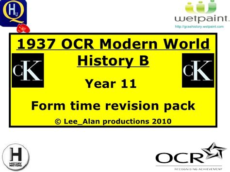 15909 revision v1 year 11 ocr modern world history revision pack