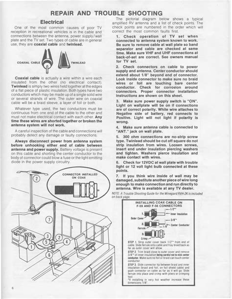 winegard rv antenna parts diagram 1983 fleetwood pace arrow owners manuals winegard rv tv