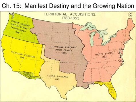 manifest destiny and sectionalism manifest destiny map thinglink