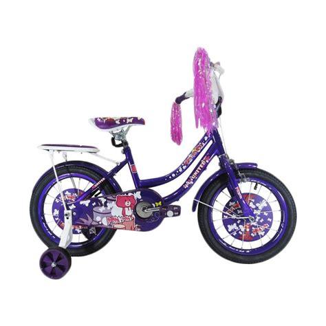 Roda Bantu Sepeda Anak United jual united pom pom sepeda anak ungu 16 inch harga kualitas terjamin blibli
