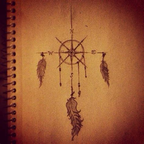 dreamcatcher compass tattoo neck 10 best images about dream catcher compass tattoo on