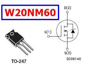transistor mosfet w20nm60 transistor mosfet w20nm60 28 images w20nm60 datasheet vdss 600v mdmesh mosfet st stp20nm60