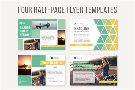 1 3 page flyer template half page print graphic templates free in design