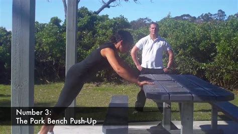 park bench tv show bootc77 7 exercises with any park bench youtube