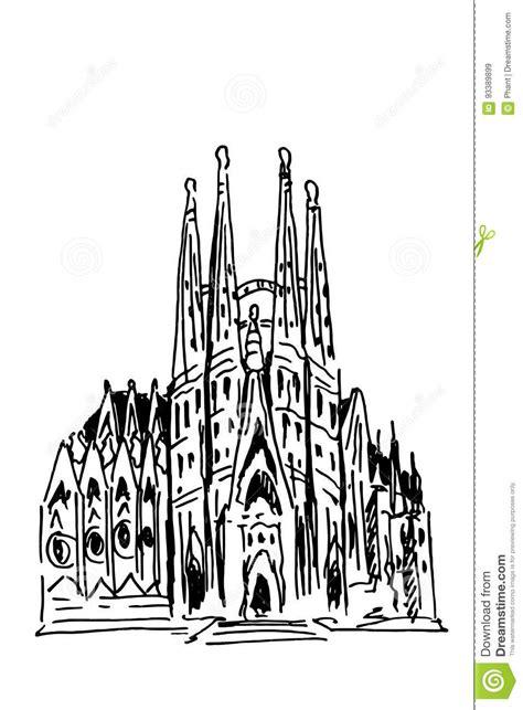 libro antoni gaudi colouring book sagrada familia barcelona spanje vector illustratie afbeelding 93389899