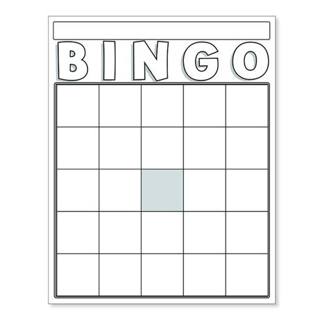 Bingo Card Template 5x5 by Bingo Cards Are The Resource To Reinforce School