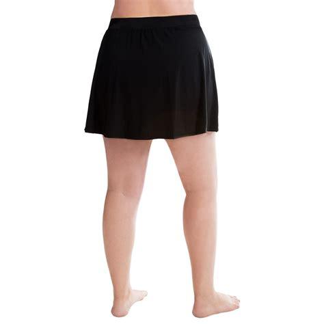 9303a 3 trimshaper swim skirt for plus size