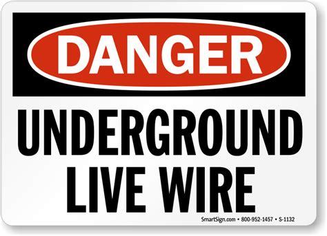 order underground live wire danger signs usa