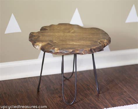diy rustic table legs diy hairpin style legs on rustic stool