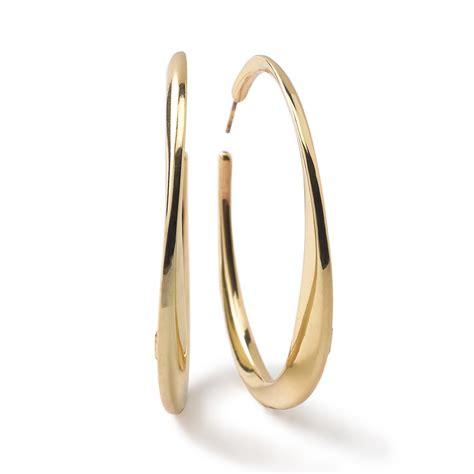 ippolita classico large hoop earrings 18k gold ge1416