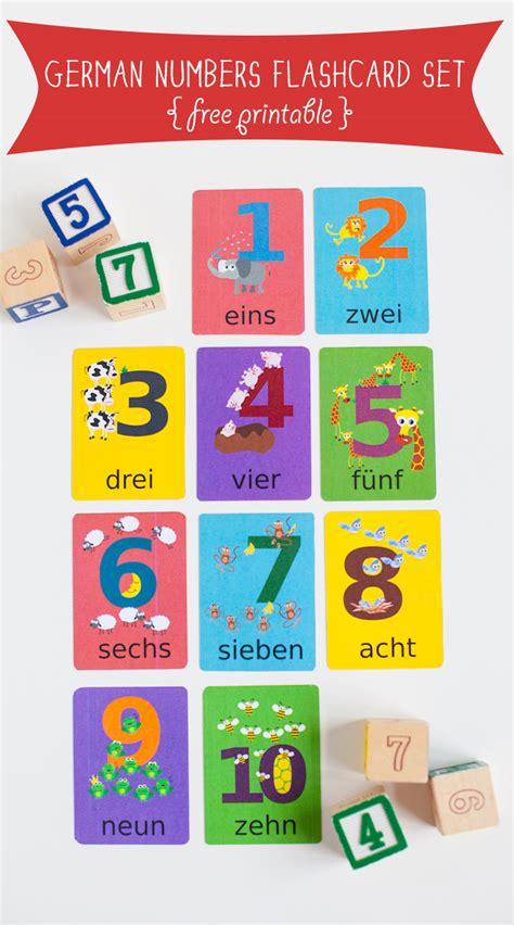 printable german numbers german numbers flashcard printable gus on the go