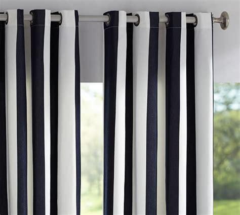 striped outdoor curtains sunbrella 174 indoor outdoor grommet drape pottery barn