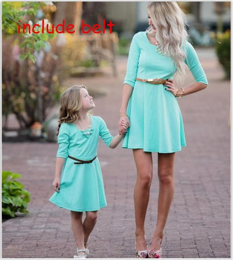 mother and daughter matching dress mother and daughter clothes fashion blue mom and daughter
