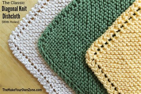 knitting pattern with holes 2 ways to knit diagonal dishcloths holes or no holes
