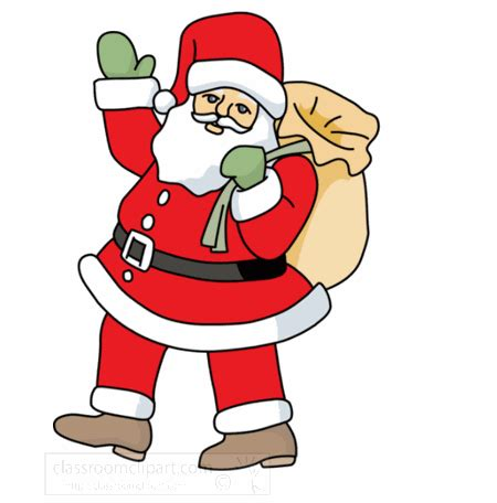 anmated waving snata santa claus pictures gif