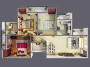 Apartment 3 Bedroom 50 Three 3 Bedroom Apartment House Plans Architecture
